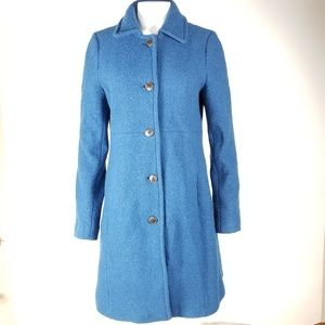 Lands' End boiled wool trench coat 10